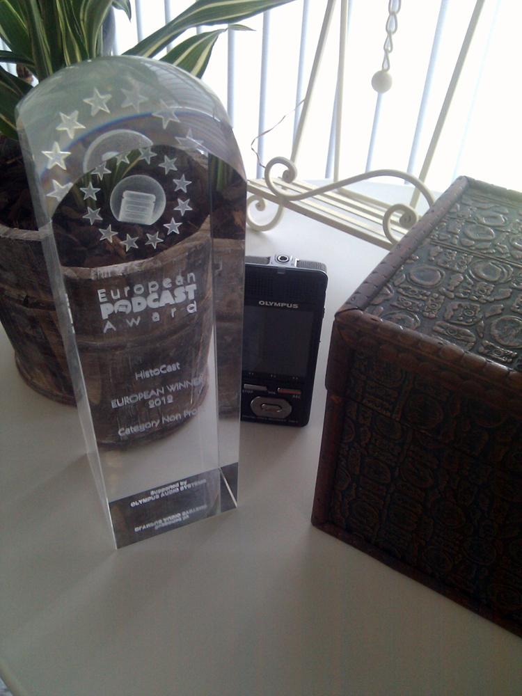 Recibimos el trofeo de los EPA 2012