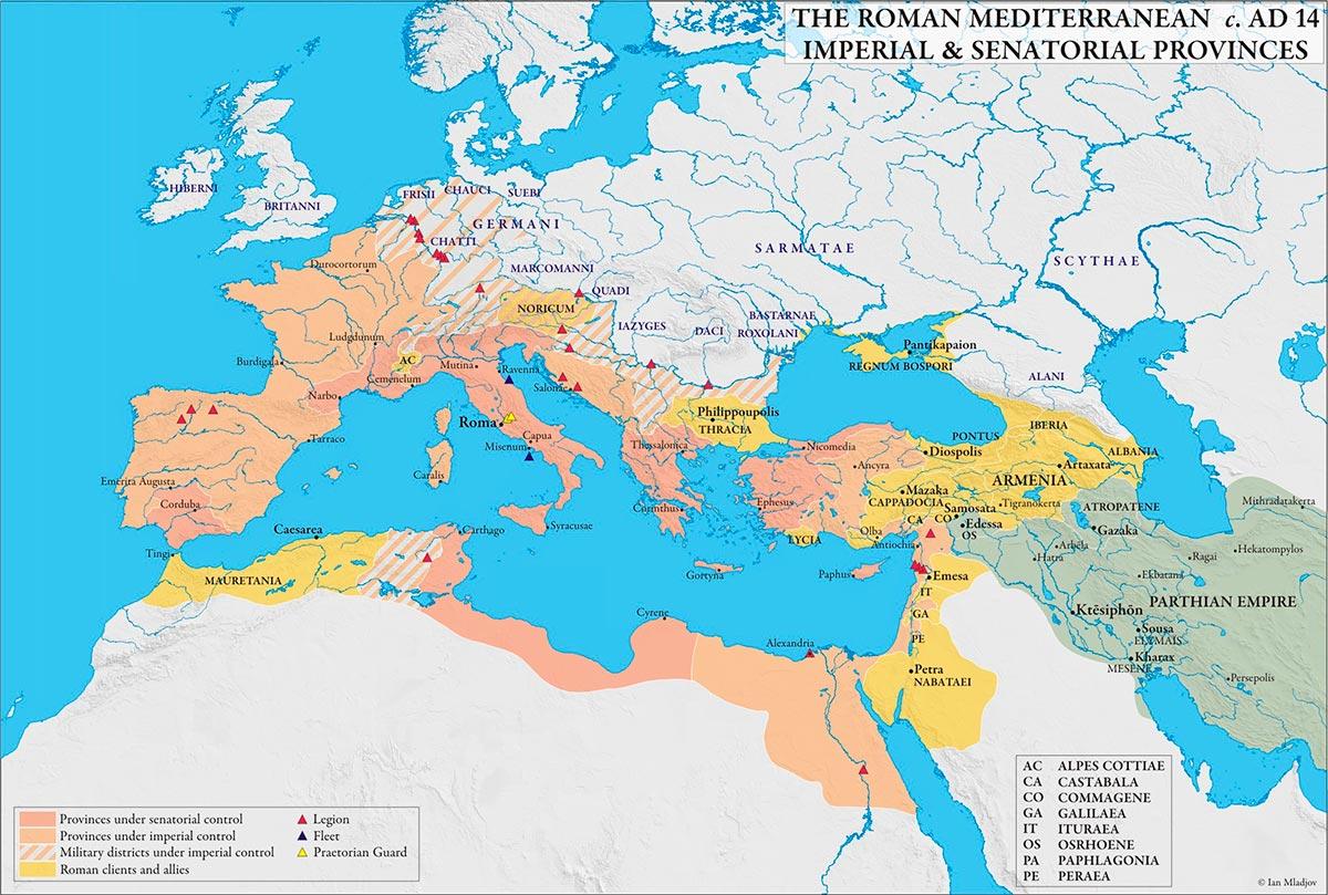 Resultado de imagen de mapa imperio augusto