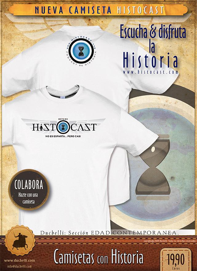 Nueva camiseta de HistoCast (pincha para hacerte con ella)