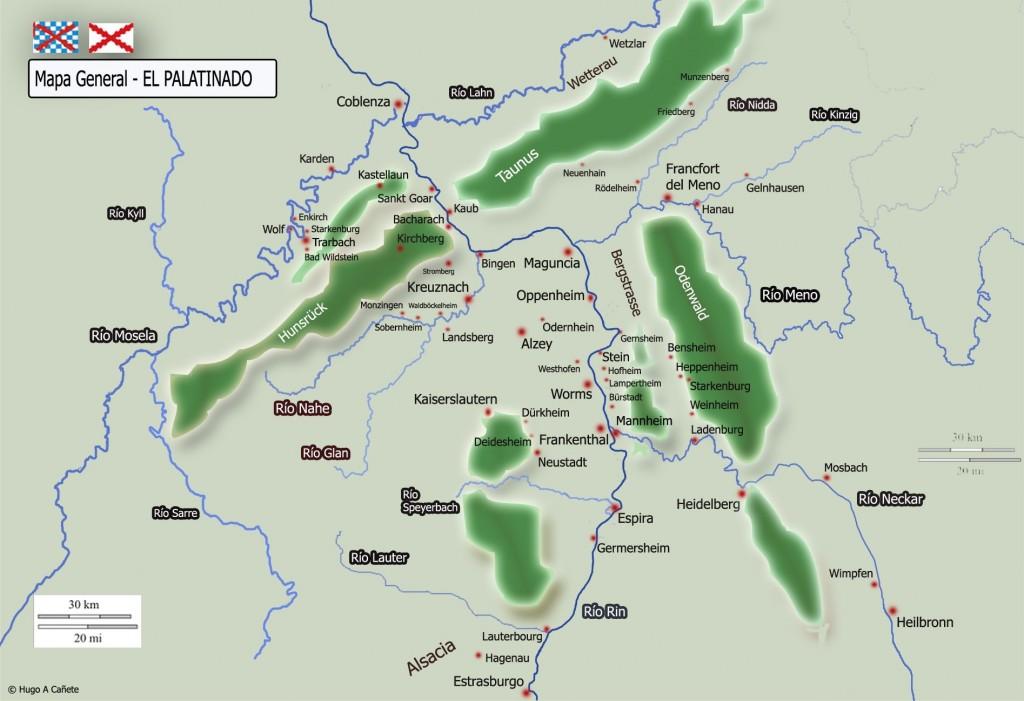 Mapa general del Palatinado y alrededores (pincha para ampliar)