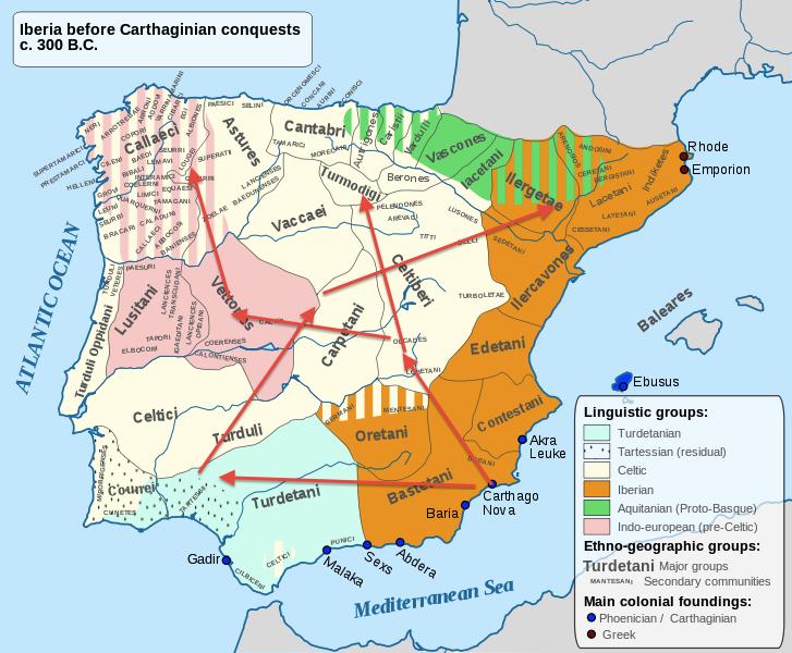 Resultado de imagen de Las campañas de Aníbal en Iberia.