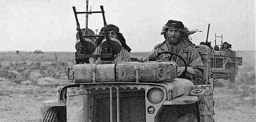 Jeep del SAS en el norte de África