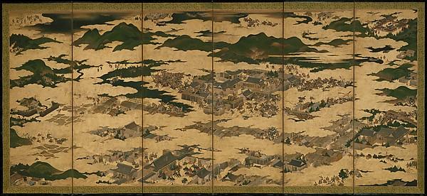 Paneles de la rebelión Hōgen en el Metropolitan Museum (Clic para ampliar)