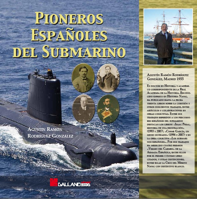 """Portada libro """"Pioneros Españoles del Submarino"""""""