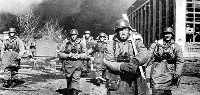Soldados alemanes en la defensa de Belgorod