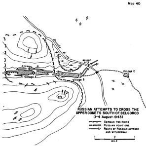 Intentos sovieticos de cruzar el Donetsk (pincha para ampliar)