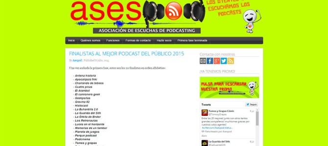HistoCast de nuevo entre los 20 podcast más votados por los oyentes en ASESPOD