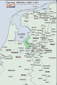 Mapa de La Frisia