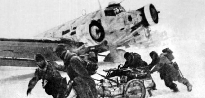 Algunos soldados en Stalingrado