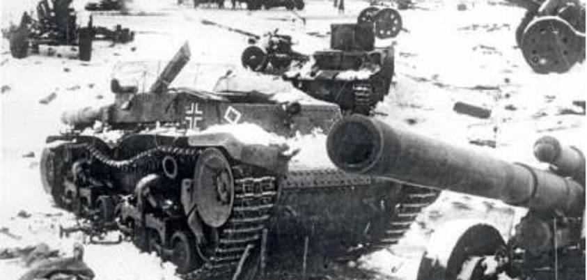 Algunos restos blindados en Stalingrado