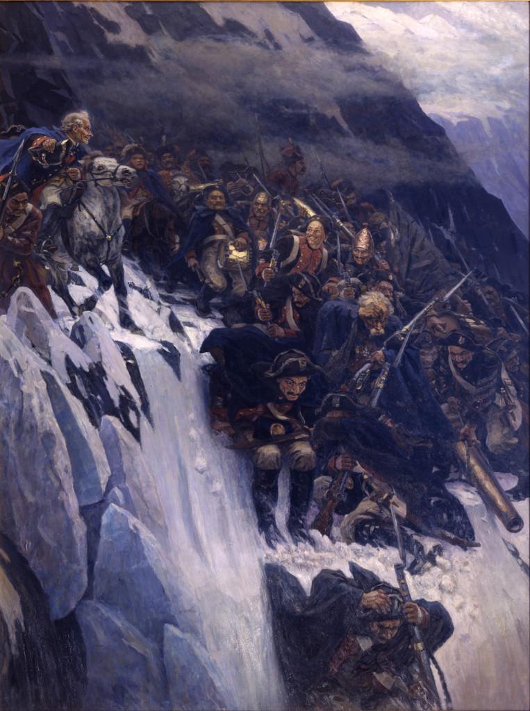 Alexander Suvorov cruzando los Alpes