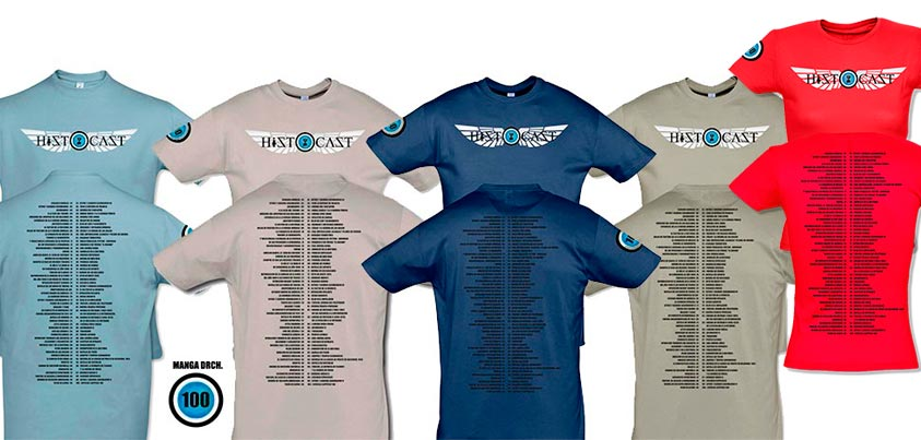 Camisetas conmemorativas HistoCast nº 100