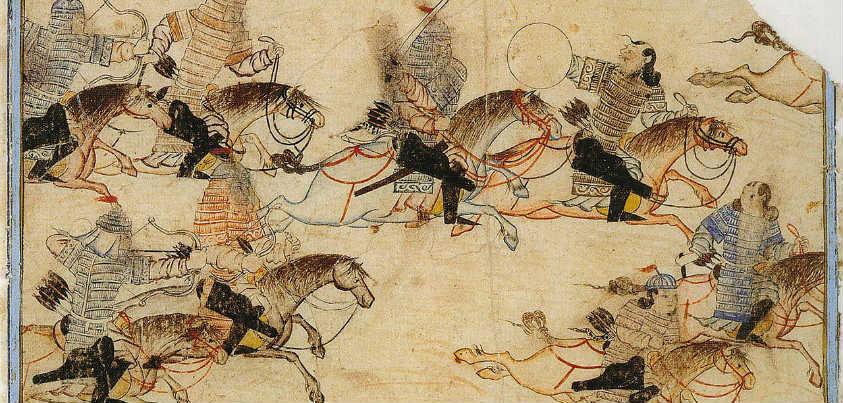 Los mongoles de Gengis Kan masacrando a sus enemigos