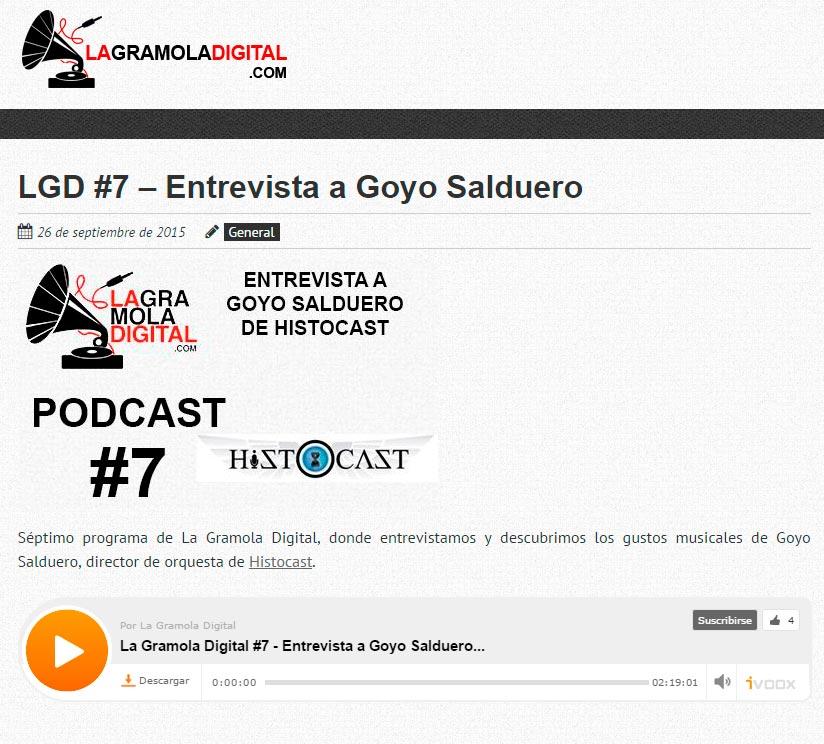 Pantallazo de la entrevista en La Gramola Digital