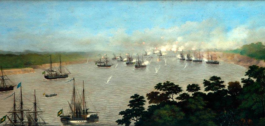 Ataque fluvial en la batalla de Curupayti