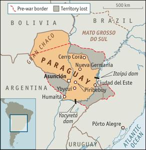 Mapa de Paraguay, entorno y sus pérdidas