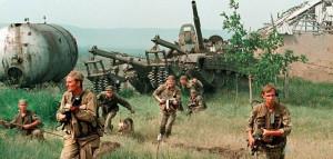 Soldados rusos en la Guerra de Chechenia
