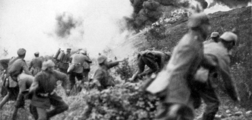 Ataque alemán en la batalla de Verdún