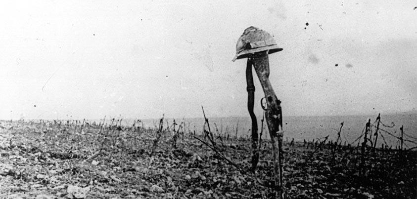 Vista del desolado campo de batalla de Verdún