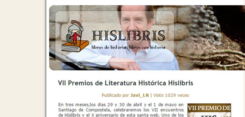 Hugo Cañete y Víctor San Juan nominados a los VII Premios de Literatura Histórica Hislibris