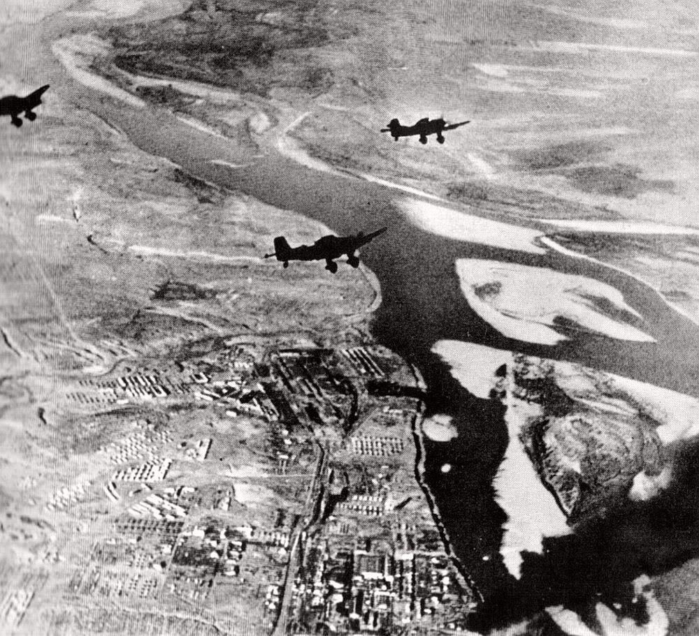 Stukas preparando un ataque sobre Stalingrado
