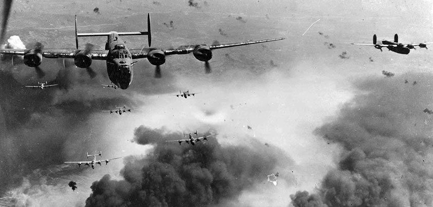 Bombardeos en la II Guerra Mundial y fuego antiaéreo
