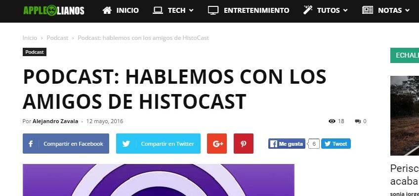 Entrevista de Applelianos a HistoCast