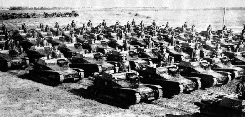 Formación de Carro Veloce del ejército italiano en la IIGM