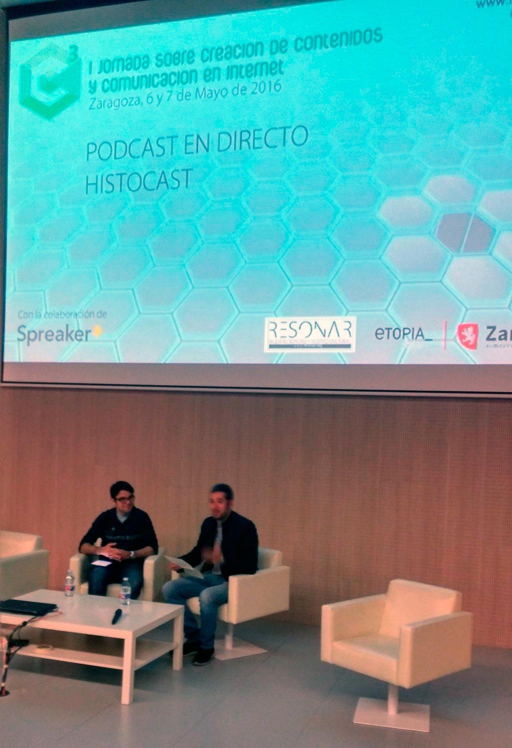 """Toni y Goyix en el directo """"La comunicación en batalla"""" realizado en la jornada C3"""