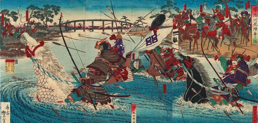 Cruce de río en las Guerras Genpei