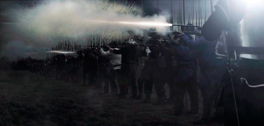 Soldados combatiendo a la usanza del siglo s.XVII