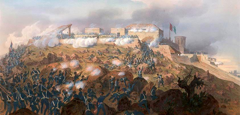 Batalla de Chapultepec durante Guerra de México - Estados Unidos