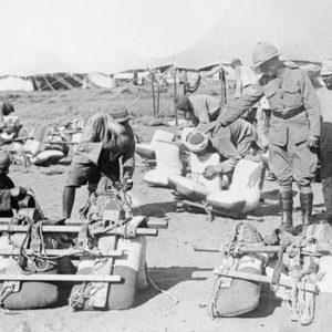 Campamento británico en Egipto