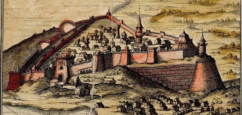 Grabado de Koroni en la época de los Tercios