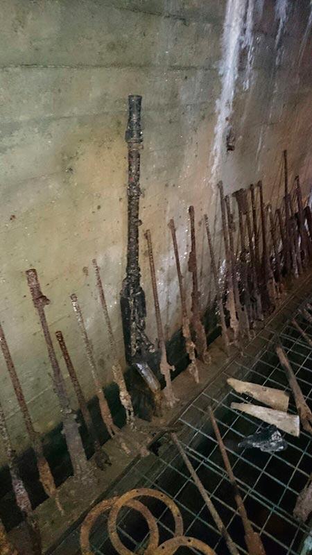 Armas nazis pudriéndose en los túneles de la baja Silesia