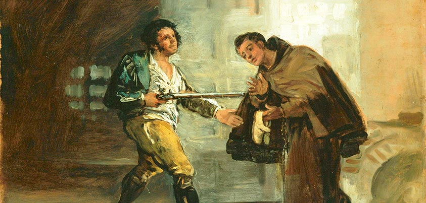 Cuadro de Goya de el asalto de El Maragato