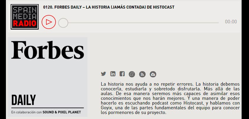 HistoCast en Forbes Daily