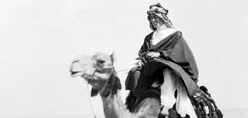 Imagen de Lawrence de Arabia en dromedario