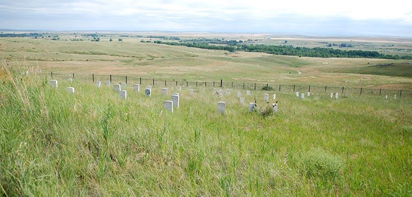 Vista del campo de batalla de Little Bighorn y las lapidas de los caídos (foto de @goyix_salduero)