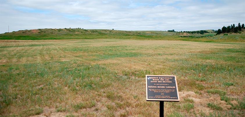 Vista del campo de batalla de Rosebud (foto de @goyix_salduero)