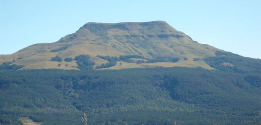 La colina Majuba es una muestra del paisaje en que se desarrollaron las guerras Boers