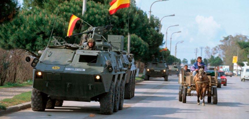 BMR español patrullando por Nayaf