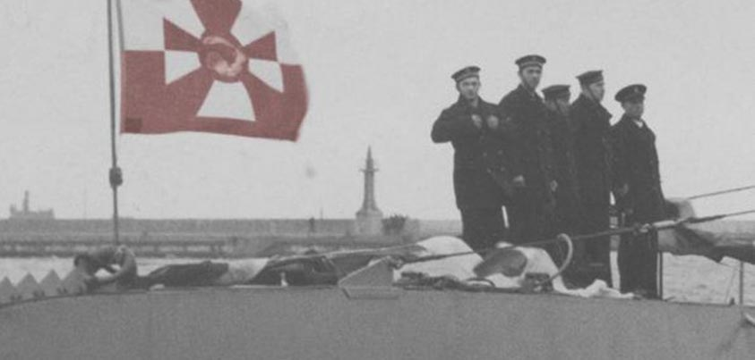 Tripulación de submarino polaco de la II Guerra Mundial