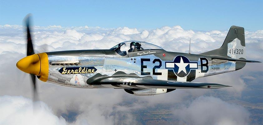 P51 Mustang en vuelo