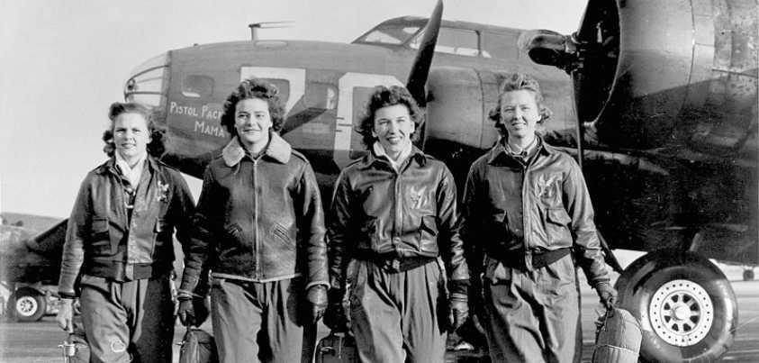 Cuatro pilotos de la WASP