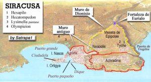 Mapa de Siracusa durante el asedio by Satrapa1 (clic para ampliar)