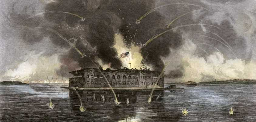 Bombardeo confederado sobre Fort Sumter