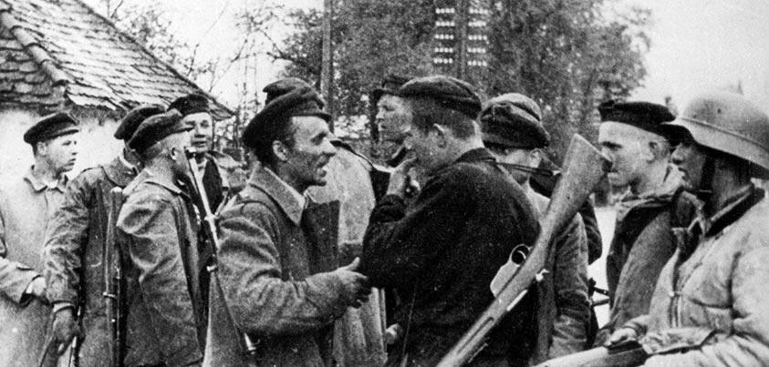Sabugo en el campo de concentración de Mauthausen tras ser liberado