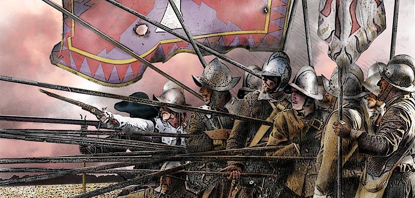 Ilustración de soldados de los Tercios en Rocroi