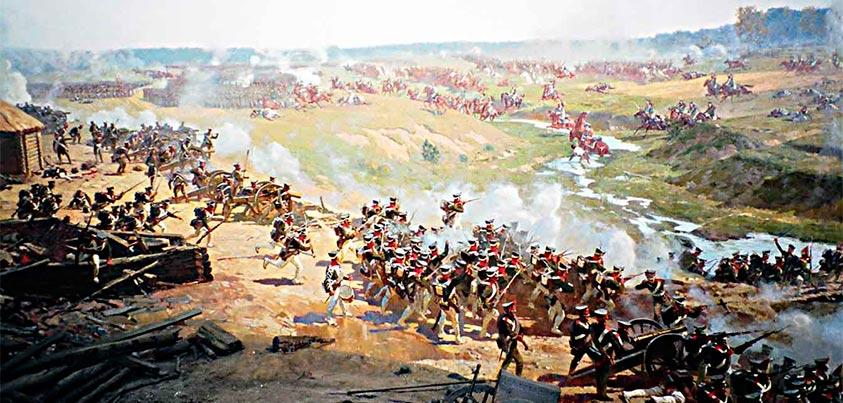 Pintura de la batalla de Borodinó